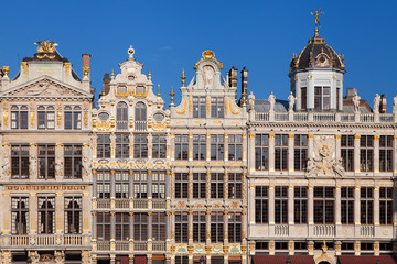 Foto auf AluDibond Brussel Old Guild Houses at the Grand Place