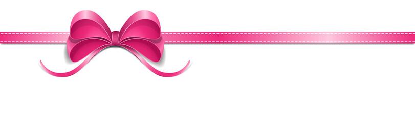 Pink horizontal loop. Pink Ribbon loop