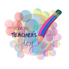 Happy teacher's day card.