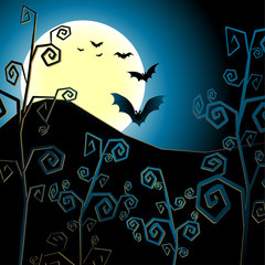 halloween, vector, bat, night, holiday, background, horror, illustration, silhouette, october, pumpkin, scary, celebration, dark, spooky, black, moon, tree, autumn, cemetery, art, evil, design,
