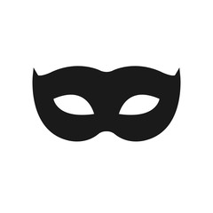 Carnival mask icon isolated. Masquerade party mask. Vector stock.