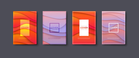 Abstract paper cut cover design.