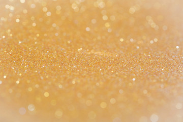 Golden abstract blur background