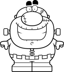 Smiling Cartoon Frankenstein