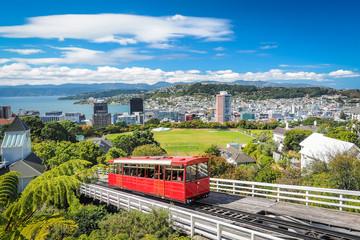 Wellington Cable Car, the landmark of New Zealand.