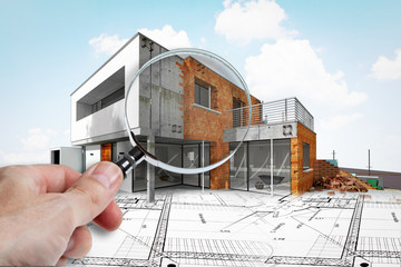 Expertise dans chantier de construction d'une maison d'architecte