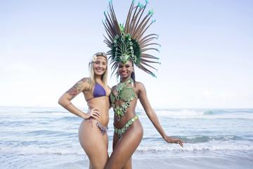 Samba Dancers. Ipanema Beach. Rio de Janeiro. Brazil.
