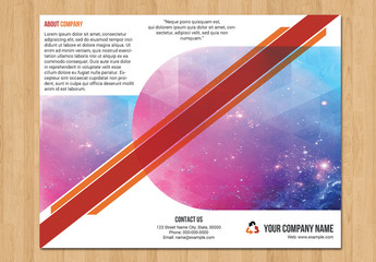 Trifold Business Brochure with Red and Orange Accents