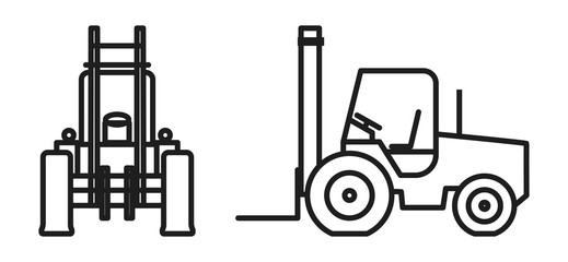 Vector forklift Icon
