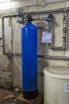 The water softener in a condominium
