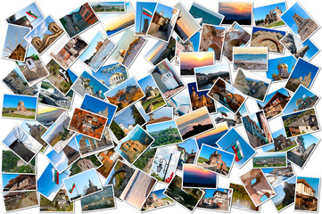 Collage of travel photos from Bulgaria