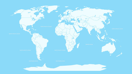 World map infographic layout. World map Vector globe template for presentations, web, design, cover, infographics