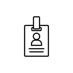 id badge line icon