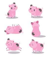 Lovely pink pigs
