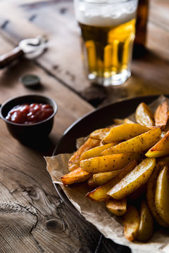 Food: oven fried potatoes