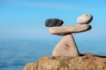 Stones in symmetrical balance