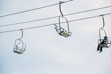 Ski resort chair lift
