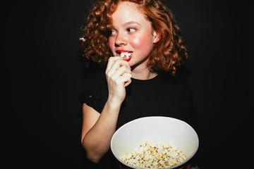 Movie Time! Popcorn?