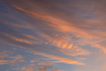 Beautiful clouds at sunrise, improbable sky