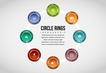 Colorful Connected Circles Infographic Layout
