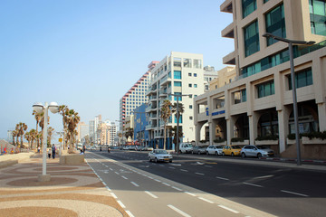 Downtown of Tel Aviv view from beach, Israel
