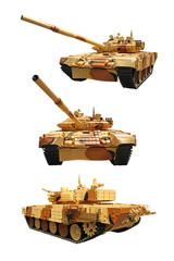 Modernized belarussian tank T-72BME isolated