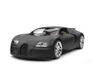 Beautiful modern matte black concept super sportscar