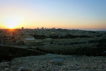 Jerusalem view from Mount of Olives, Israel
