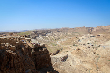 Masada fortress near Dead Sea, Israel
