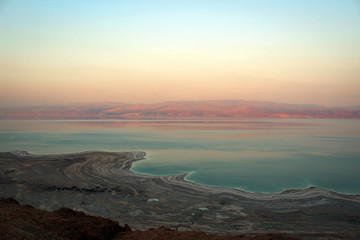 Dead Sea view by sunset, Israel