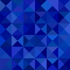 Abstract triangle pyramid background - mosaic vector design from triangles in dark blue tones
