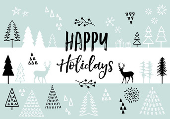 Christmas card, vector background