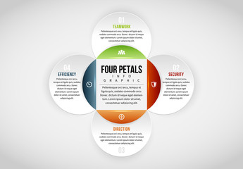 Linked Circle Cluster Infographic 6