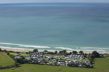 View of Apollo Bay and Houses Along the Great Ocean Road, Australia