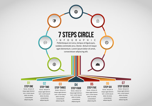 Linked Circle Cluster Infographic 7