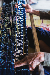 Traditional indigo fabrics