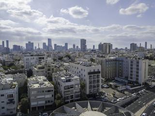 Tel Aviv skyline - Aerial photo of Tel Aviv's center.