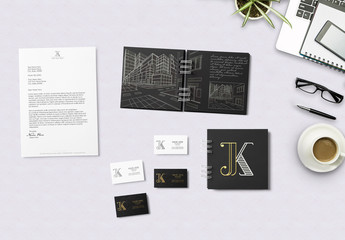 Wirebound Notebooks and Stationery Mockups