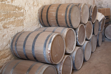 Wooden barrels for stored drink