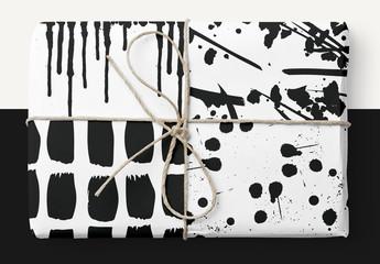 Paint Brush Strokes Patterns Set