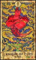 Ginn. Minor Arcana Tarot Card. Knight of Cups