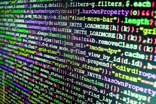 Writing programming functions on laptop  Programmer