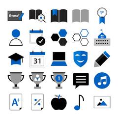 Education Flat Icons V1