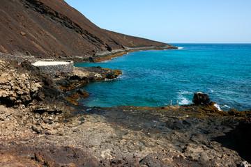 Basalt shore line, Sao Vicente Island in Cape Verde