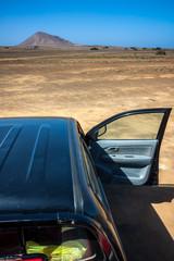 Traveling desert by car. Cape Verde. Sal Island
