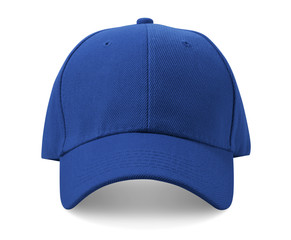 Blue cap isolated on white background.