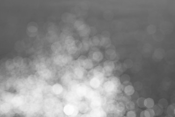 silver and white bokeh lights background