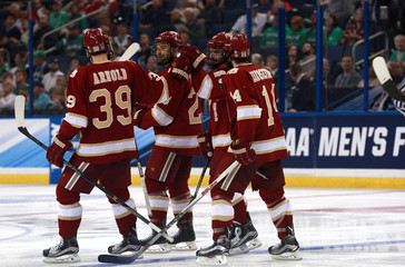 NCAA Hockey: Frozen Four-Denver vs North Dakota