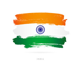 Flag of India. Abstract concept