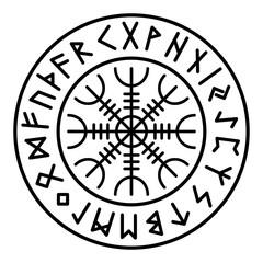 Aegishjalmur Futhark